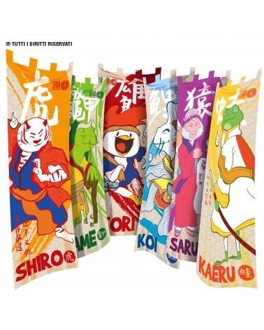 Bandiere colorate squadre estate ragazzi YUBI